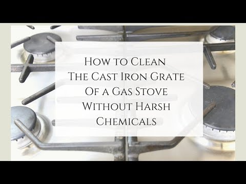 How to Clean Cast Iron Grate of a Gas Stove Naturally