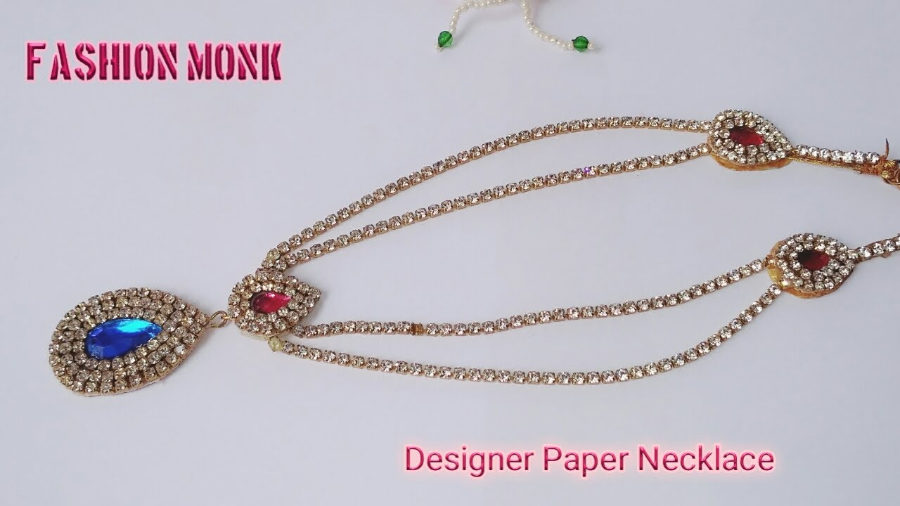 How To Make Paper necklace | DIY Paper Necklace | How To Make ...