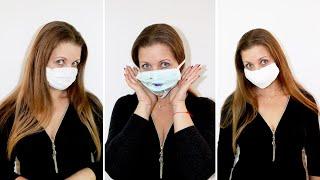 защита от вируса.Одноразовая маска своими руками за 30 секунд