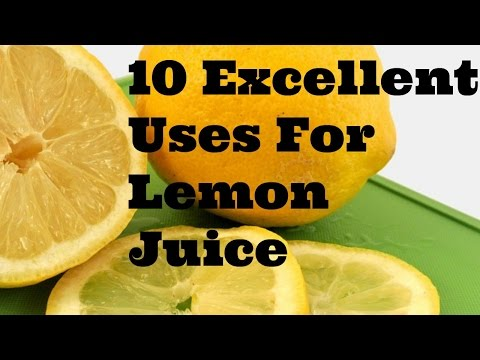 10 Excellent Household Uses For Lemon Juice