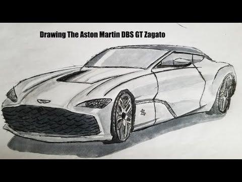 Drawing The Aston Martin Dbs Gt Zagato Youtube
