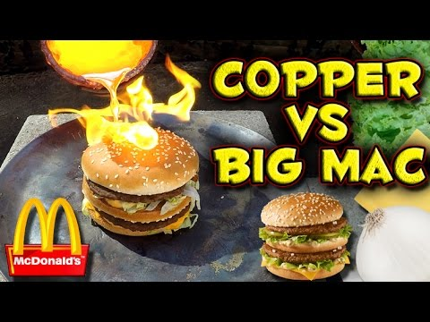 The Results Of Molten Copper Being Slathered On A Big Mac Might Make You Regret Eating At McDonald's All Those Years