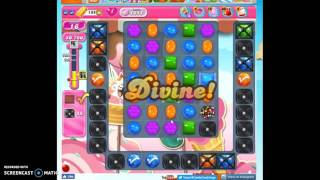 Candy Crush Level 1611 playthrough w/no boosters, no audio