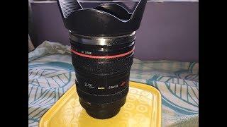 471) Camera lens shaped coffee mug unboxing (amazon)
