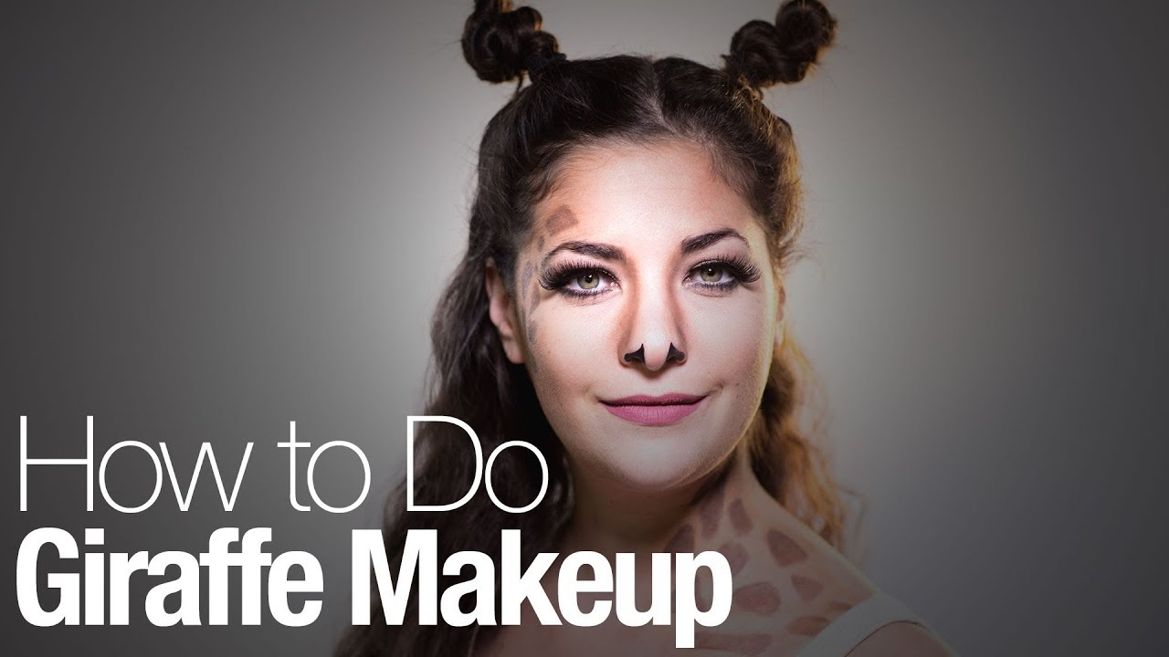 How to do your own giraffe makeup for Halloween