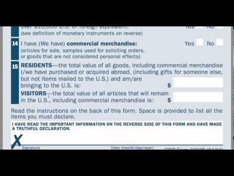 Forms I94 and Customs 6059B upon landing - YouTube
