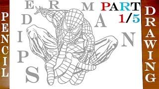 superheroes easy marvel draw step paper pencil spiderman