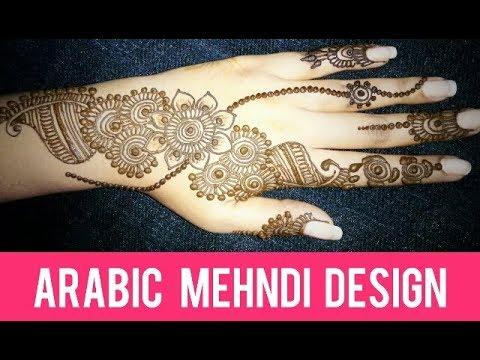 Beautiful Arabic Mehndi Design Simple And Easy Mehndi Design For Back Hand Arabic Mehndi
