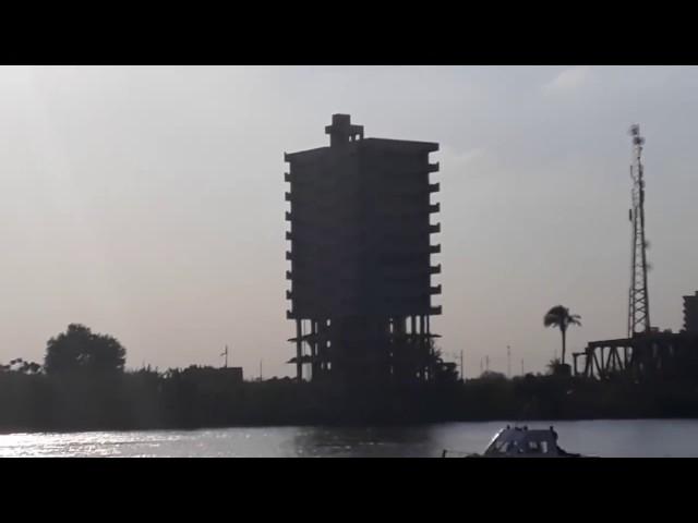 لحظة تفجير برج بنها المخالف في القليوبية