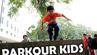 Parkour para crianças