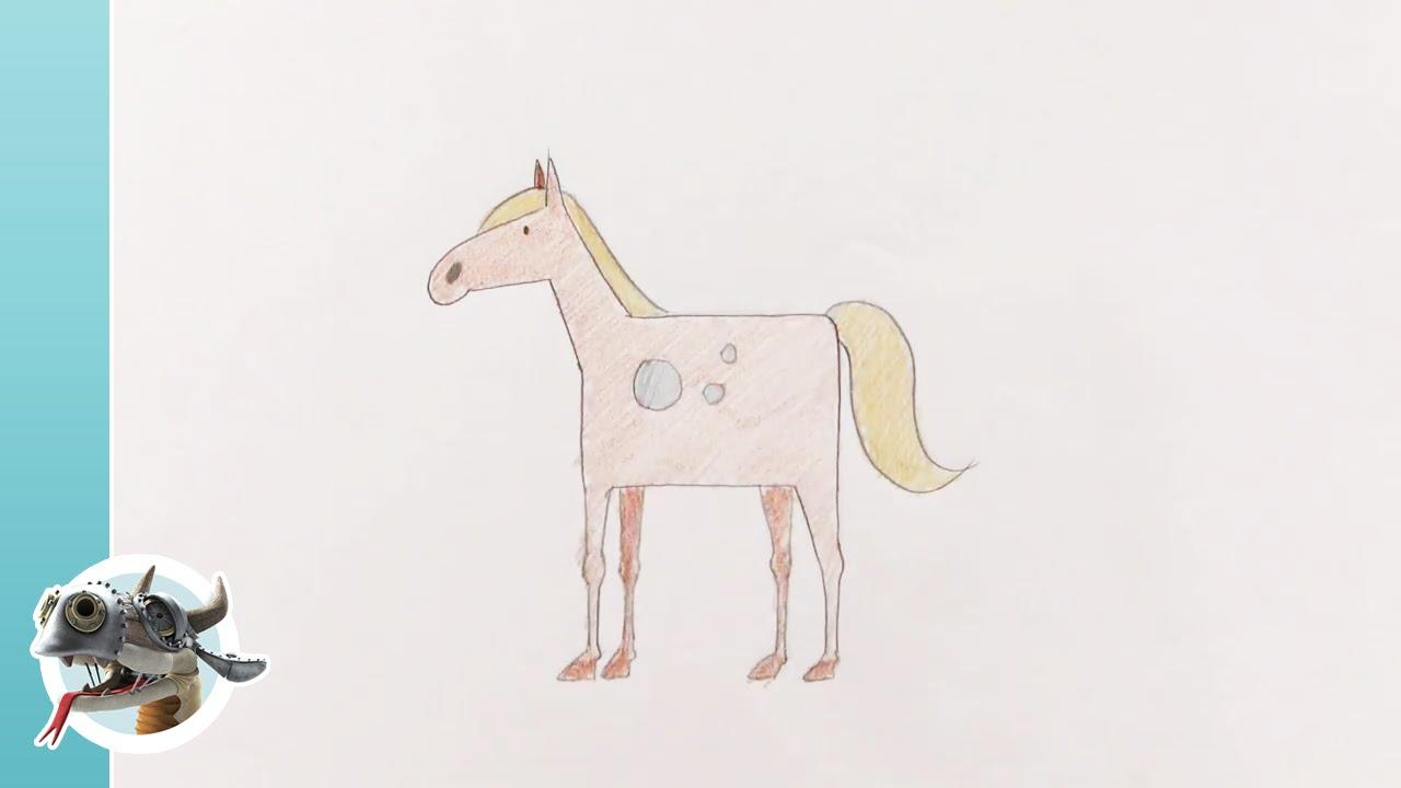 Bekend Flin & Flo: tekenen - Paard - YouTube @EK76