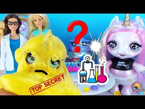 Барби проводит ОПЫТЫ с ЛИЗУНАМИ Слайм эксперимент Что получится Мультик с Единорогом