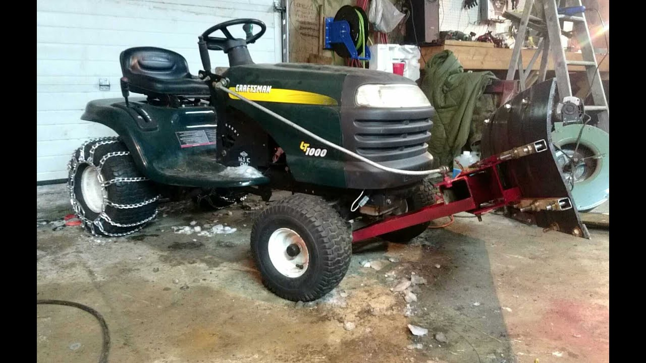 The Lt1000 Lawn Tractor Its Features Accessories And Where To >> Craftsman Lt1000 42 Snow Plow