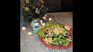 Салат с кальмаром и грибами #Новыйгод2020 #салат2020 #рецепты на новыйгод