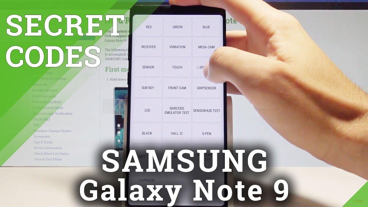 Codes SAMSUNG Galaxy Note 9 - Hidden Mode / Secret Menu / Tricks  |HardReset Info