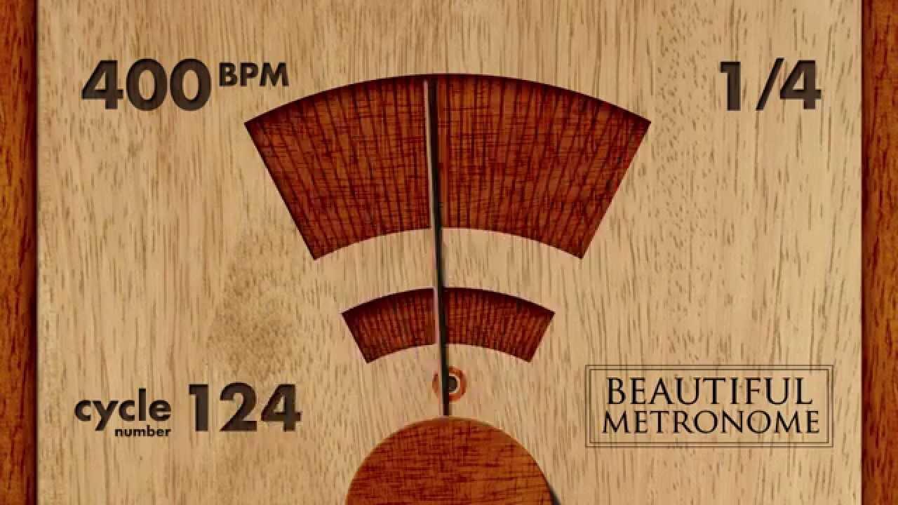 400 BPM 1/4 Wood Metronome HD