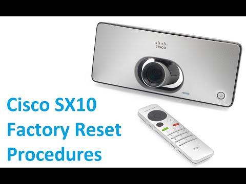 Cisco SX10 Factory Reset Procedures