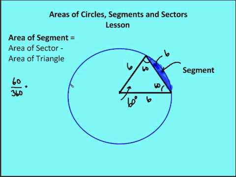 116 areas of circles sectors segments lesson youtube ccuart Gallery