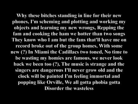 Jarren Benton- Atychiphobia Lyrics