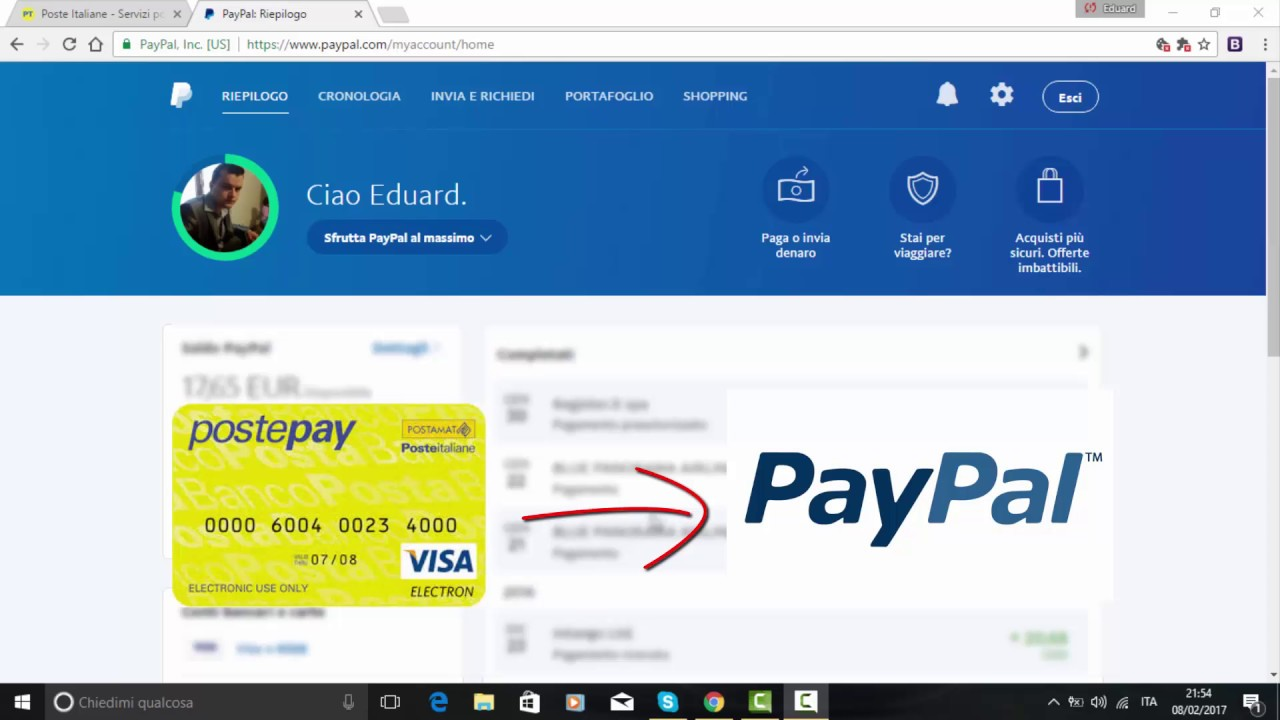 Come Collegare Postepay A Paypal