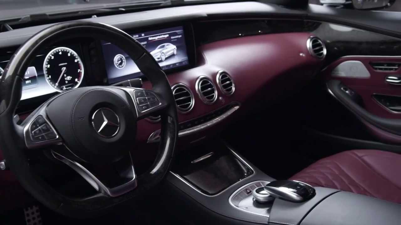 مرسيدس بنز اس كلاس كوبيه 2015 التصميم الداخلي S500