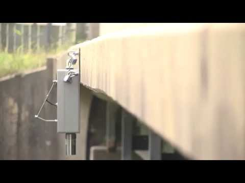 Iowa Flood Center bridge sensor installation on YouTube