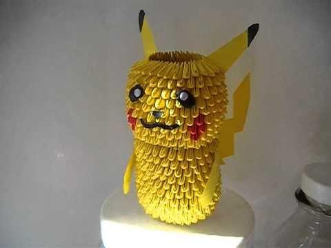 3D Origami Pikachu