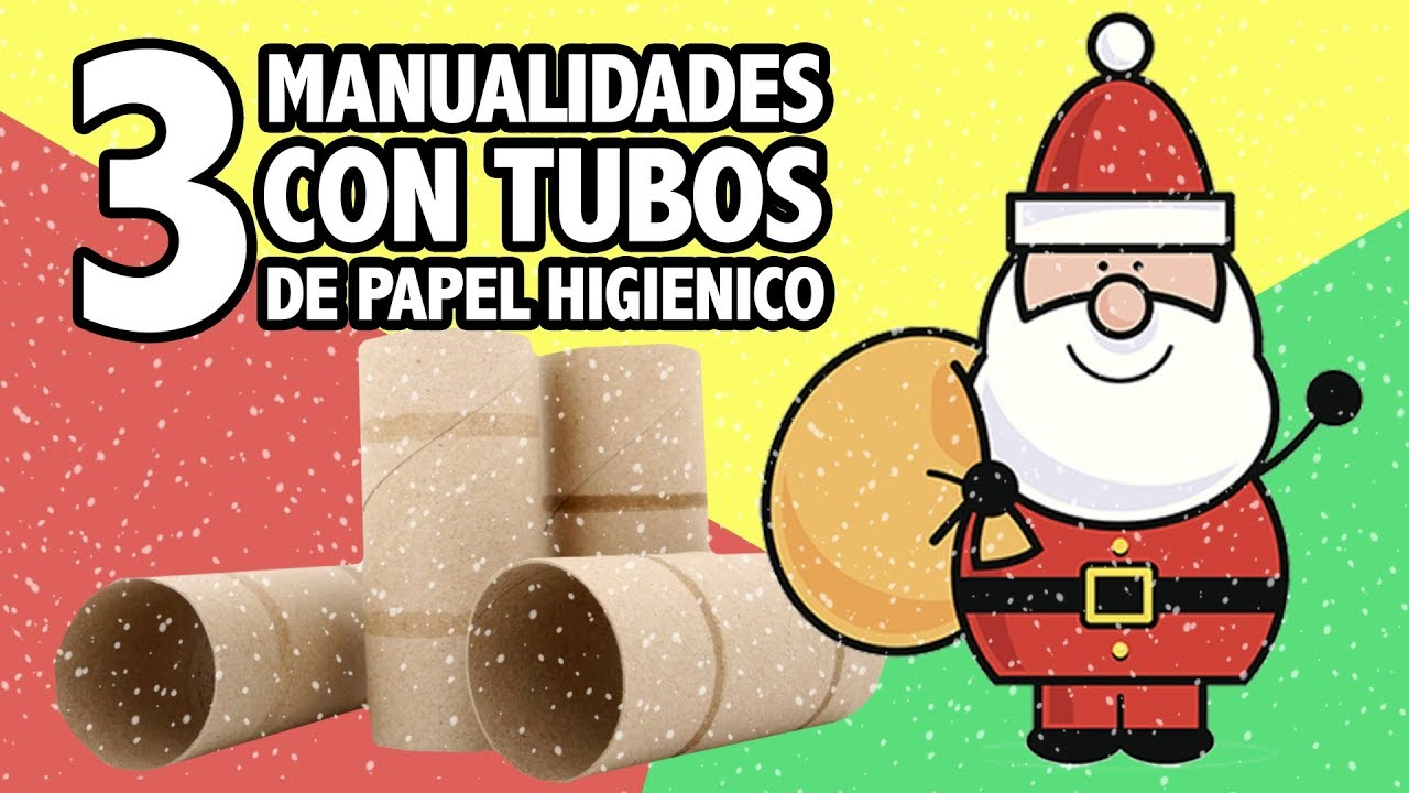 3 adornos navide os con rollos de papel higi nico - Adornos de navidad con papel ...