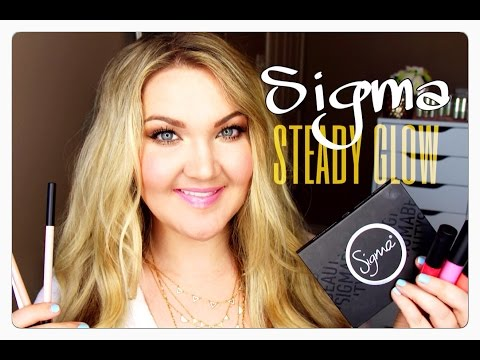 ★SIGMA NEW STEADY GLOW COLLECTION | TUTORIAL + REVIEW