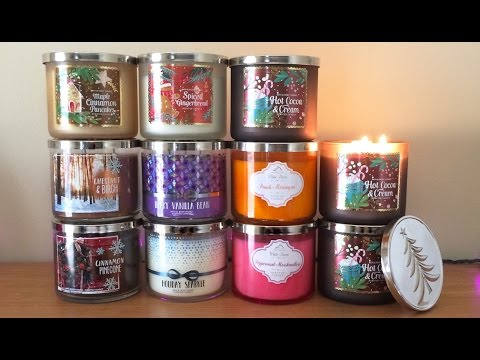 bath body works winter holiday 2016 test candle haul youtube. Black Bedroom Furniture Sets. Home Design Ideas
