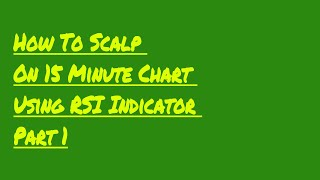 How To Scalp On 15 Minute Chart Using RSI Indicator Part 1