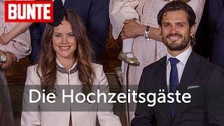 Sofia von Schweden & Prinz Carl Philip: Die Hochzeitsgäste - BUNTE TV