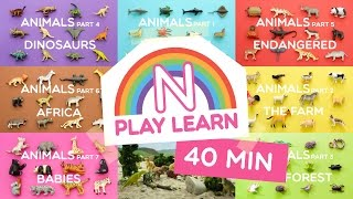 Learn Animals Names and Sounds for Kids | COMPILATION 40min | Part 1 to 7