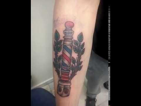 BARBER POLE TATTOO - BARBER SHOP