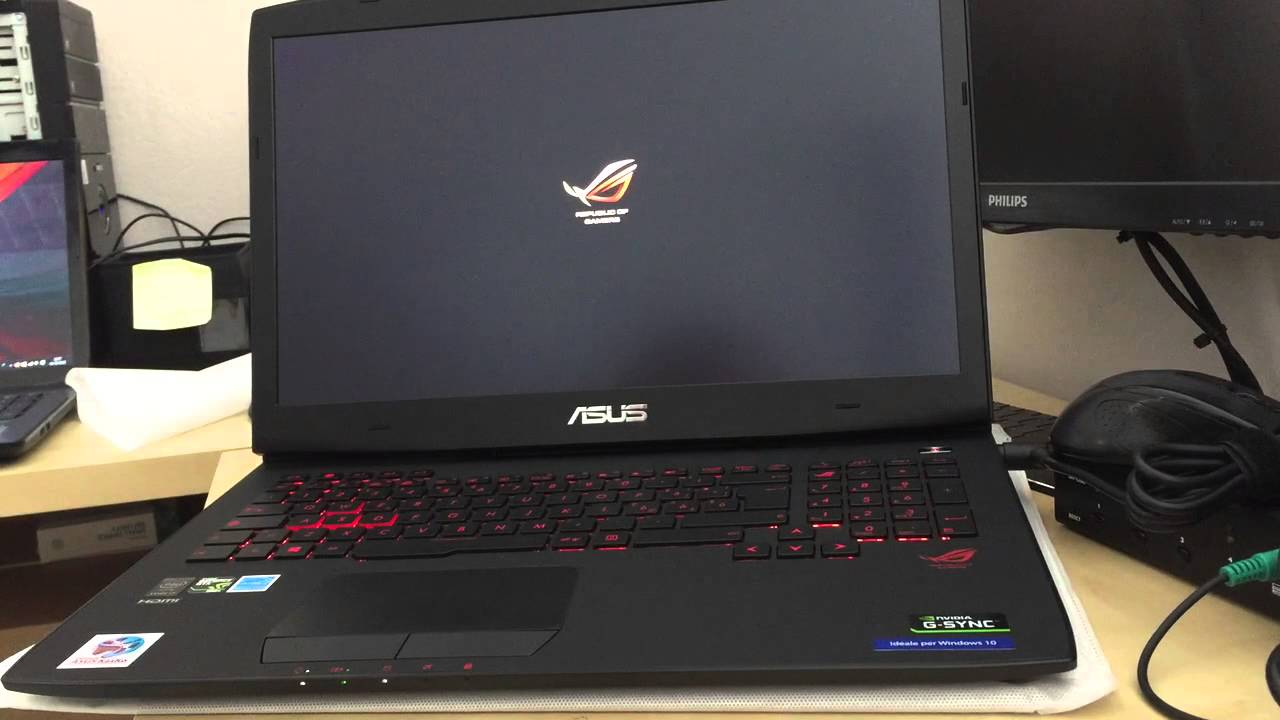 Asus ROG G751JY very fast boot windows 10 on ssd! avvio veloce windows 10