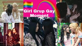 KPOP GIRL GROUP GAY MOMENTS |COUPLE SHIP