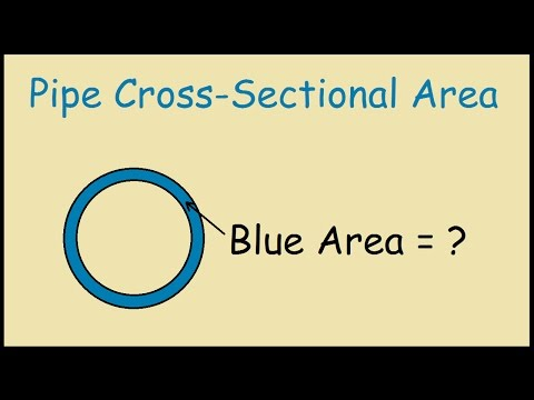 Pipe Cross Sectional Area - YouTube