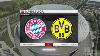 FIFA 16 Gameplay - FC Bayern Munich VS Borussia Dortmund - Bundesliga Full Game [ HD ]