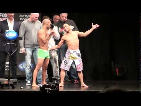 Demetrius Johnson vs. John Dodson - Weigh-Ins - UFC on FOX 6 - Chicago, Illinois
