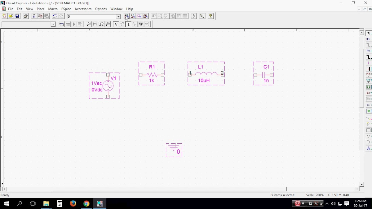 Series Resonance Of A R L C Circuit In Orcad Youtube Seriesparallel Circuits Ac