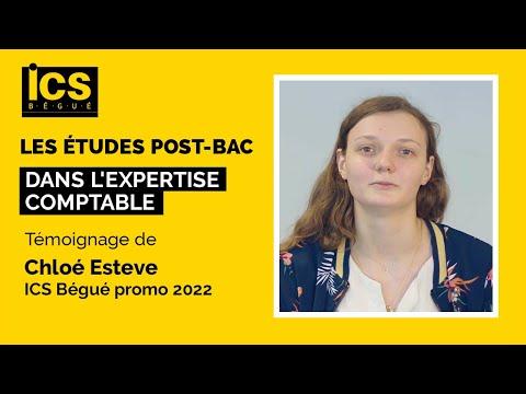Les études post-bac dans l'expertise comptable - Témoignage de Chloé Esteve (ICS Bégué promo 2022)