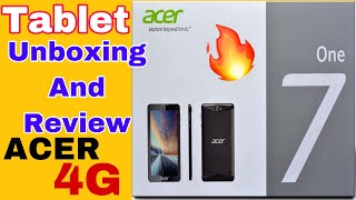 Acer ONE 7 4G Namo E-Tablet Unboxing And Review🔥🔥
