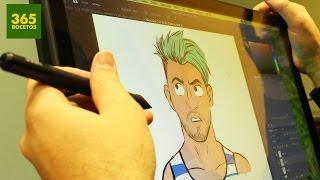 hola soy german dibujado en una tableta digitalizadora german nuevo peinado 2017