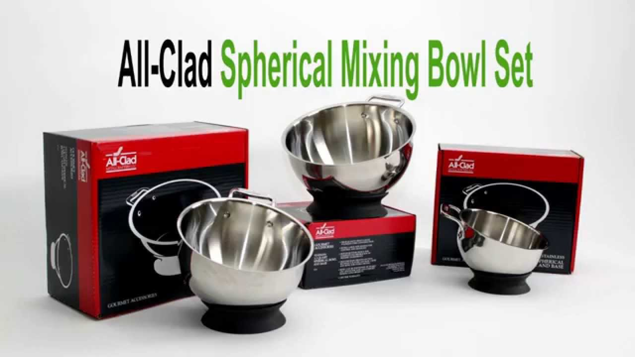 All-Clad Spherical Mixing Bowl Set Review - YouTube