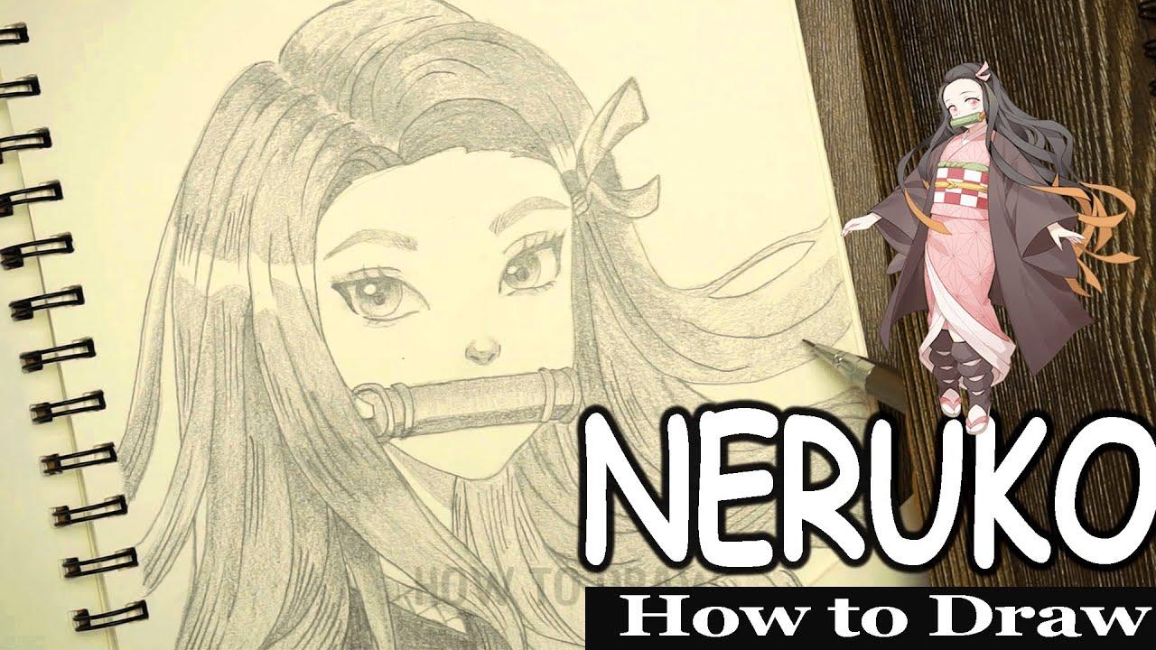 How to draw NEZUKO from Kimetsu no Yaiba - An Art Minute || How to draw