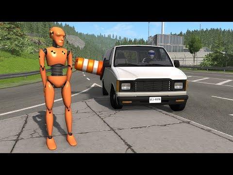 Crash Test Dummy - Clothesline Takedowns | BeamNG.drive