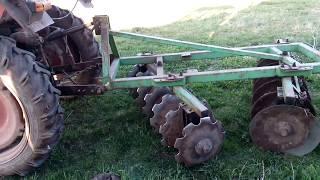 Дискова борона BOMET і трактор т 25 !!! Відмінна оранка