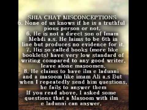 Shia Chat Misconceptions About Yamani(Istikhara And Visions) Part 2