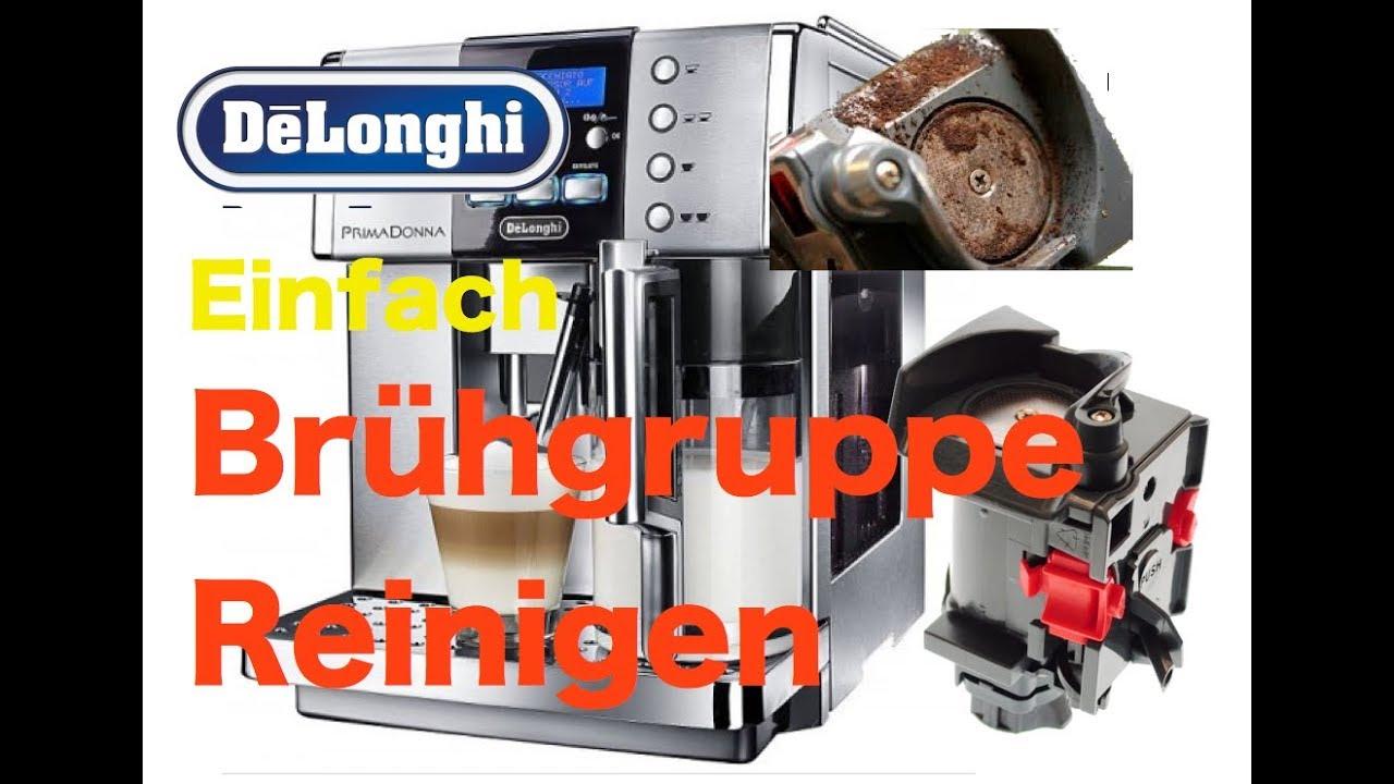 Delonghi Kaffeemaschine Mahlwerk Einstellen : Delonghi brüheinheit reinigen und wartung youtube