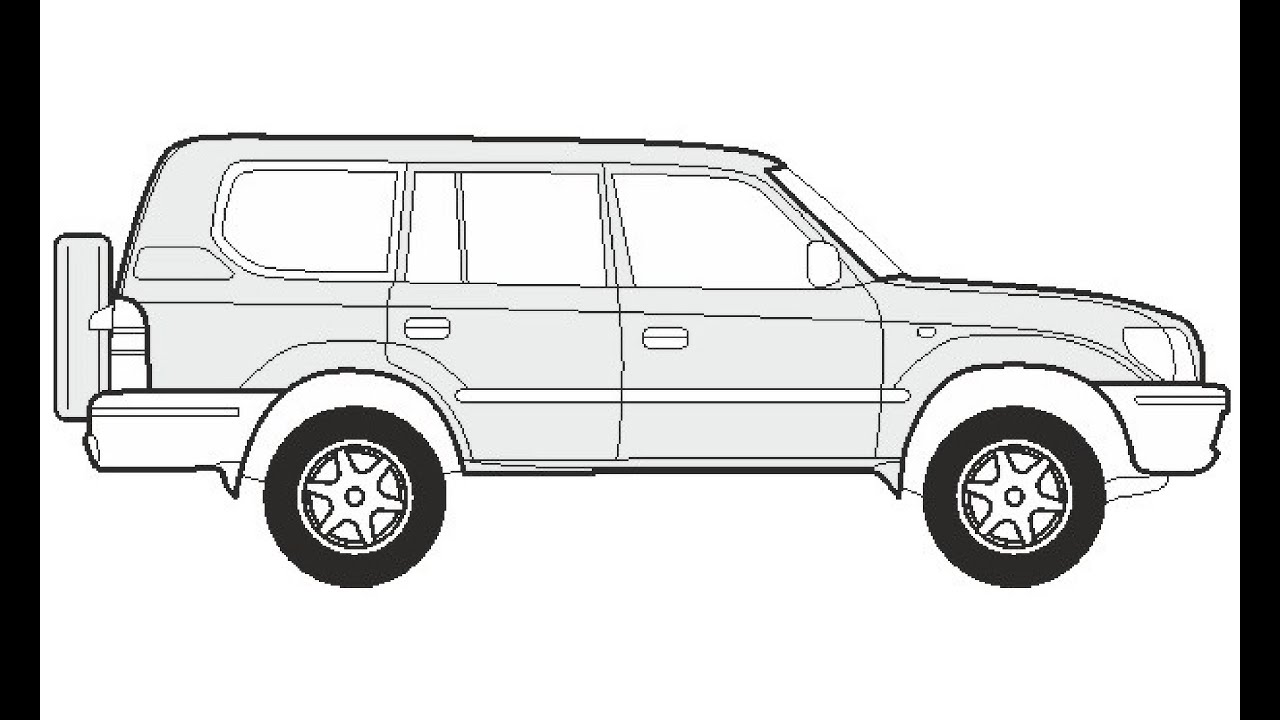How to Draw a Toyota Land Cruiser 300 / Как нарисовать